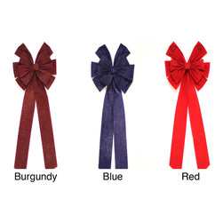Jeco - Deluxe 49-inch Bow (Set of 2) - These ribbons are great for decorating any entryway,stairway or mantle. These high quality bows will give years of enjoyment.