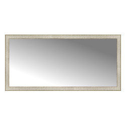 """Posters 2 Prints, LLC - 56"""" x 27"""" Libretto Antique Silver Custom Framed Mirror - 56"""" x 27"""" Custom Framed Mirror made by Posters 2 Prints. Standard glass with unrivaled selection of crafted mirror frames.  Protected with category II safety backing to keep glass fragments together should the mirror be accidentally broken.  Safe arrival guaranteed.  Made in the United States of America"""