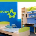 100% Boy! Vinyl Wall Decal boysbedroom08, Matte White, 72 in. - Vinyl Wall Quotes are an awesome way to bring a room to life!