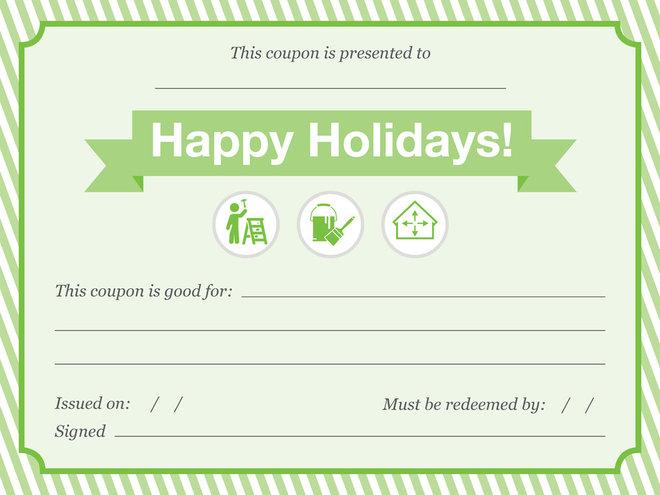 Holiday Chore Coupon