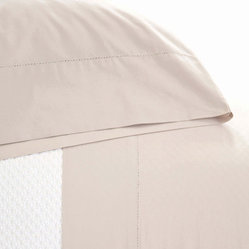 classic hemstitch sheet set (platinum)