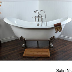 None - Double Slipper 72-inch Cast Iron Clawfoot Bathtub - Cast Iron is the original design and construction of double ended tubs, offering warmth, comfort and durability. This bathtub's heavy construction reduces noise and vibrations, with style that is timeless and elegant.