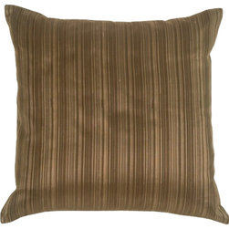 Pillow Decor - Pillow Decor - Fine Stripe in Taupe Silk Accent Pillow - Subtle stripes give this pillow a natural look and makes it an all around favorite that can be worked into a wide range of decor themes.