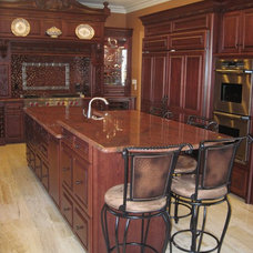 Mediterranean Kitchen Countertops by Artisan Group Stone and Wood Countertops