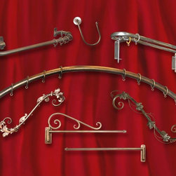 Priscilla's Specialty Drapery Hardware - Specialty drapery hardware,  all made to your specifications.  Round, arched windows, curved walls, extra long, Manufacturer of custom drapery hardware,
