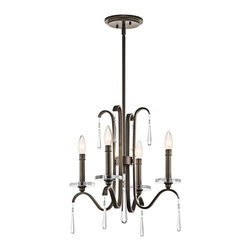 Kichler Lighting - Kichler Lighting Tara 4-Light Transitional Chandelier X-ZO78234 - With this 4 light chandelier from the Tara&trade: collection, chic is in the details. Crystal accents are the pearls of the outfit, giving each piece a finished feel that's sophisticated, polished and feminine. The rich Olde Bronze&trade: finish further enhances the elegance of this design.