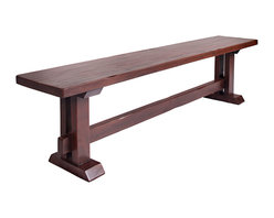 Rustic Home - Alder Wood Bench - This  6' foot bench has a slight distress on top and
