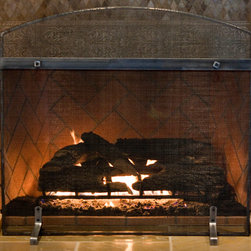 Artisan Studio Series - Custom fireplace screen from Ironhaus. The fusion between rustic and modern makes this screen perfect for the industrial style room or home.