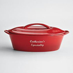 "Personalized Casserole Dish - For the cook who already has everything, just start putting their name on things. And bonus, if you own these and you bring your amazing mac 'n' cheese to a potluck and everyone raves, you can play humble: ""Who me? Oh, yes, yes, I did bring that."""