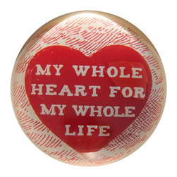 Sugarboo - My Whole Heart - Handmade paper weights will bring a smile to everyone's face