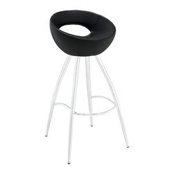 Modway - Modway EEI-1031 Persist Bar Stool in Black - Patterns of discovery begin anew with the continuous design of the Persist modern bar stool. While your rendezvous with friends may seem to end, the freshly pressed memories are everlasting. For a design that has no end or beginning, Persist has a way of keeping every experience fresh and exciting. Made of chrome-plated stainless steel, and a tubular padded vinyl seat, live every moment as an essential part of every other.
