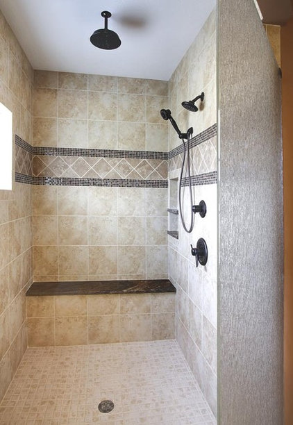 Contemporary Showers by The Granite Shop