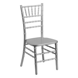 Flash Furniture - Flash Furniture Flash Elegance Supreme Silver Wood Chiavari Chair - SZ-SILVER-GG - If you've been to a wedding, chances are you've sat in a Chiavari chair. Chiavari chairs have become a classic in the event industry and are also highly popular in high profile entertainment events. This chair is used in all types of elegant events due to its lightweight, stacking capabilities and elegant design. Keep your guests comfortable with optional cushions and keep your chairs beautiful with optional chair covers. [SZ-SILVER-GG]