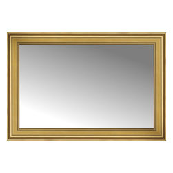 """Posters 2 Prints, LLC - 48"""" x 33"""" Arqadia Gold Traditional Custom Framed Mirror - 48"""" x 33"""" Custom Framed Mirror made by Posters 2 Prints. Standard glass with unrivaled selection of crafted mirror frames.  Protected with category II safety backing to keep glass fragments together should the mirror be accidentally broken.  Safe arrival guaranteed.  Made in the United States of America"""