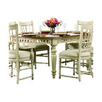 """Hooker Furniture - Summerglen Oval Dining Table - White glove, in-home delivery included!  This casual country dining table is crafted from hardwood solids and cherry veneers and handpainted.  Extends to 118"""" w x 47 3/4"""" d x 30"""" h with two leaves.  Floor to bottom of apron: 25"""" h"""
