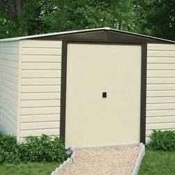 Arrow Vinyl Dallas Shed - Take a look at some of our Arrow brand sheds. Arrow is the leading manufacturer of steel sheds in the USA. They offer a very economical solution to all of your storage needs. Arrow has a full line of small garden sheds to large garages.