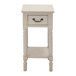 Benzara - Classic and Contemporary Style Wood Accent Table Home Accent Decor - Description:
