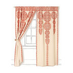 Marrakech Curtain, Light Red - I love the cream and red together in this curtain. It would be so pretty in a breakfast nook or an unexpected surprise in a bathroom.