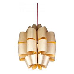 ParrotUncle - Wooden Veneer Roll Decorative Home Pendant Lighting - Wooden Veneer Roll Decorative Home Pendant Lighting