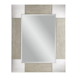 Bassett Mirror - Kipling Polished Steel and Chagrin Finish Wall Mirror - Kipling Polished Steel and Chagrin Finish Wall Mirror by Bassett Mirror