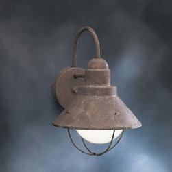 Kichler Lighting - Kichler Lighting - 9022OB - One Light Outdoor Wall Mount - The simple aluminum conical shade and lower stainless steel bail wires create a classic look in Olde Brick.