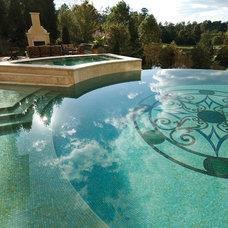 Mediterranean Pool by NewZeugma Custom Luxury Mosaics and Iznik Tiles
