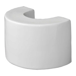 Renovators Supply - Pedestal White Vitreous China, Ceramic Pedestal Sink Extender - Need a higher pedestal sink? This 8 inch Ceramic Pedestal Sink Extender is made to fit our pedestal sinks. Easily installs under your pedestal to personalize your own sink height. Save your back! You can choose from 2 heights: 4 inch or 8 inch.