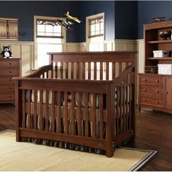 Bonavita Peyton Lifestyle 4 in 1 Convertible Crib Collection - Kids grow fast but that doesn't mean you'll need to buy new furniture every other year. The Bonavita Peyton Lifestyle Crib Collection is designed to grow with your child. The crib easily converts to a toddler bed or day bed allowing years of use and relaxation. Constructed with a classic design this crib's curved design offers a sleek contemporary twist and dash of elegance. The double dresser works perfectly as a changing table and offers six drawers of ample storage. The collection's chest offers another five drawers for storage and the nightstand is perfect for ocnvenient bedside storage. Each piece of the collection serves a vital role. For lasting longevity each piece is constructed of sturdy hardwoods. and available in a variety of finishes to suit your child's style and your home's decor. Full-size conversion rails sold seperately. Dimensions: Crib: 58L x 31W x 48H inches Dresser: 52W x 19.75D x 31.87H inches Chest: 35.50W x 20D x 45.5H inches Nightstand: 24W x 20D x 24H inches About LaJobiAs a wholly-owned subsidiary of Kid Brands Inc. LaJobi has been designing manufacturing and marketing child-friendly products the world over. Emphasizing stylish well-priced juvenile furniture with a European flair this Cranbury New Jersey-based company has been anticipating and meeting customer needs with brands like Bonavita Europa Baby Kathy Ireland Baby and Graco. Today LaJobi operates in every phase of the product cycle from design to the final sale helping customer create the environments they want and need for their children.