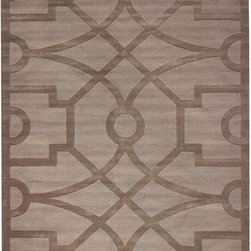 Martha Stewart Living Fretwork Area Rug - I love the subtlety of this intricate pattern done in two similar shades —  I don't want my rug to outdo the rest of my decor!