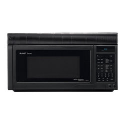 Sharp - Sharp R1875T 1.1-cu-ft Over-the-range Convection Microwave - Add this Sharp over-the-range microwave to your kitchen decor to make cooking and preparing foods easier and faster. Use the microwave for quick re-heats and use the exhaust system to keep your stovetop free of heat and steam.