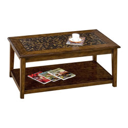 Jofran - Jofran 698-1 Baroque Brown Rectangular Mosaic Tile Top Cocktail Table - The simplicity and elegance, style and practicality - these are the main theses of occasional tables by Jofran inc. Among the great variety of collections you can choose the one that best suits your apartment, and that is to your liking. This baroque brown rectangle cocktail table belongs to 698 series - baroque brown collection by Jofran inc. The classic formulas of color combinations are not valid in Jofran furniture territory: here is ruled by laws solely of your own preferences and fantasies. Huge selection of colors in combination with a wide choice of shapes and sizes allow you to find among this variety precisely the furniture you've always wanted to see in your home. Jofran furniture offers high quality, casual furniture pieces that are constructed from premium Asian hardwoods, and finished with beautiful veneers. Durable materials and quality assembly will help your furniture to serve for many years and will not let you be disappointed in your choice.