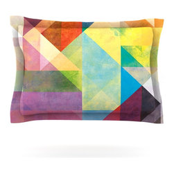 "Kess InHouse - Mareike Boehmer ""Color Blocking II"" Rainbow Abstract Pillow Sham (Cotton, 40"" x - Pairing your already chic duvet cover with playful pillow shams is the perfect way to tie your bedroom together. There are endless possibilities to feed your artistic palette with these imaginative pillow shams. It will looks so elegant you won't want ruin the masterpiece you have created when you go to bed. Not only are these pillow shams nice to look at they are also made from a high quality cotton blend. They are so soft that they will elevate your sleep up to level that is beyond Cloud 9. We always print our goods with the highest quality printing process in order to maintain the integrity of the art that you are adeptly displaying. This means that you won't have to worry about your art fading or your sham loosing it's freshness."