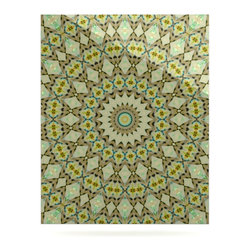 """Kess InHouse - Iris Lehnhardt """"Kaleidoscope Green"""" Geometric Metal Luxe Panel (24"""" x 36"""") - Our luxe KESS InHouse art panels are the perfect addition to your super fab living room, dining room, bedroom or bathroom. Heck, we have customers that have them in their sunrooms. These items are the art equivalent to flat screens. They offer a bright splash of color in a sleek and elegant way. They are available in square and rectangle sizes. Comes with a shadow mount for an even sleeker finish. By infusing the dyes of the artwork directly onto specially coated metal panels, the artwork is extremely durable and will showcase the exceptional detail. Use them together to make large art installations or showcase them individually. Our KESS InHouse Art Panels will jump off your walls. We can't wait to see what our interior design savvy clients will come up with next."""