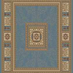 Ottomanson - Sage Traditional European Design Rug - Royal Collection offers a wide variety of machine made modern and oriental design area rugs with durable, stain-resistant pile in trendy colors.