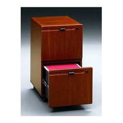 Bush Business - Mobile Two Drawer File Cabinet w One Gang Loc - Two drawers hold letter- or legal-size files. One gang lock secures both drawers. Full-extension, ball-bearing slides. Fits under 36 in., 48 in., 60 in. and 72 in. Desks. Casters for easy mobility when loaded. 15.50 in. W x 20.25 in. D x 28.12 in. H