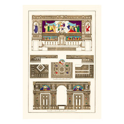 Buyenlarge - Decoration of Large Halls, Polychrome 20x30 poster - Series: Renaissance