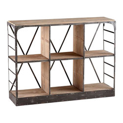 Cyan - Newberg Storage Console - Weight: 63.8 lbs.