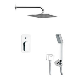 Remer - Square Contemporary Shower System - Single function shower faucet.