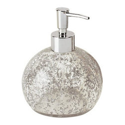 Gedy - Round Modern Soap Dispenser - Add a globe of beauty to your countertop with this modern, sculptural soap dispenser. This round soap dispenser is crafted from thermoplastic resins and available in your choice of two finishes: sleek silver or warm amber.