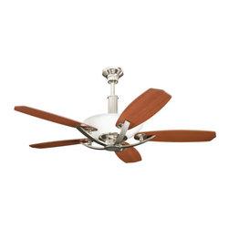 "Kichler - Kichler 300126PN 56"" Indoor Ceiling Fan 5 Blades - Remote, Uplight and 1 - Kichler 300126 Palla Ceiling Fan"