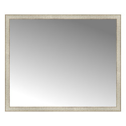 """Posters 2 Prints, LLC - 48"""" x 40"""" Libretto Antique Silver Custom Framed Mirror - 48"""" x 40"""" Custom Framed Mirror made by Posters 2 Prints. Standard glass with unrivaled selection of crafted mirror frames.  Protected with category II safety backing to keep glass fragments together should the mirror be accidentally broken.  Safe arrival guaranteed.  Made in the United States of America"""