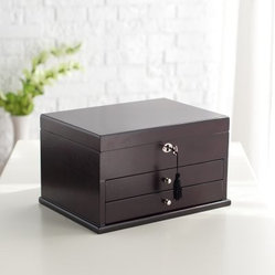 Mod Espresso Wooden Jewelry Box - 13W x 8H in.