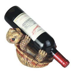 GSC - 8 Inch Turtle on Its Back Wine Holder - This gorgeous 8 Inch Turtle on Its Back Wine Holder has the finest details and highest quality you will find anywhere! 8 Inch Turtle on Its Back Wine Holder is truly remarkable.