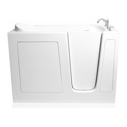 "Ariel - Ariel EZWT-3048 Walk-In Bathtub  SOAKER R 48x29x38 - Ariel Walk-In Bathtubs combine safety and convenience. They come with a door and built in seat so you can enjoy a private & relaxing bath experience. Dimensions: 48 x 29 x 38, ADA Compliant Walk in Bath Tub, 17"" seat height and 23"" wide, Handheld showerhead and Roman Faucets, Free standing stainless steel support frame with adjustable feet, Heavy duty reinforced door system, UPC drain, Safety grab bar, High Gloss Triple Gel Coat, Left and right configurations available"