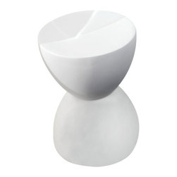 ZUO - ZUO Spring Chair-White - ZUO - End Tables - 155012 - This uniquely shaped piece can be used as a stool or side table. The Spring is formed from fiberglass and coated in matte black or white.