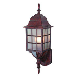 Hardware House - Artesian Bronze Outdoor Patio / Porch Exterior Light Fixture - Finish: Artesian Bronze