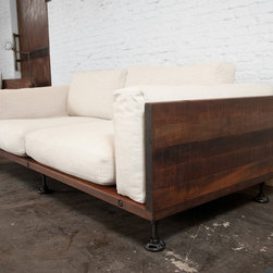V44 Two-Cushion Reclaimed Wood Sofa - This sofa by Nuevo is part of their V44 collection and comes in a reclaimed wood finish.