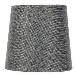 4.5x 5.5x 5.25 Granite Gray Burlap Drum Shade - Home Concept Signature Shades feature the finest premium hardback parchment.