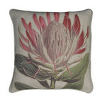 """EuroLux Home - New Printed Linen Throw Pillow 20""""x20"""" Pink - Product Details"""