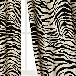 Scalamandre Maison by Eastern Accents Zebra Stripe Curtains - For the truly bold, here are Scalamandre zebra curtains. When white drapes simply won't cut the mustard, one must take it to the exotic extreme.